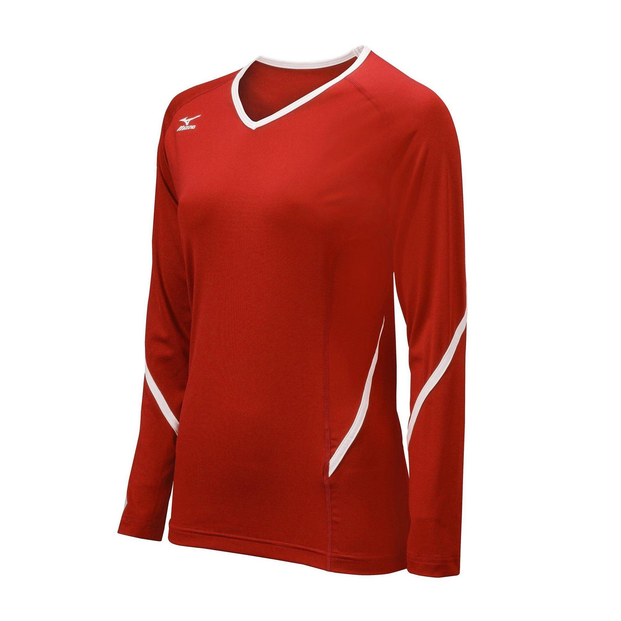 Mizuno Youth Volleyball Apparel Youth Techno Generation Long Sleeve Jersey 440458 Size Medium Red White Long Sleeve Top Volleyball Jerseys Women Volleyball