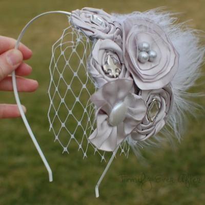 DIY Headband With French Netting