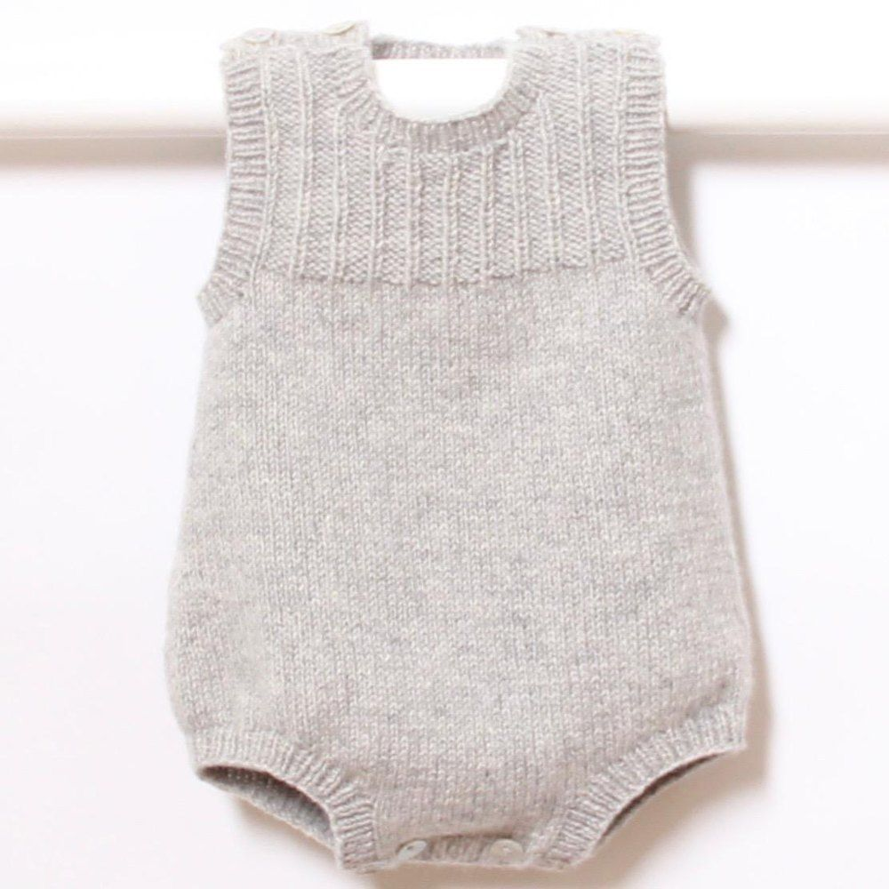 Photo of 41 / Baby Romper Knitting pattern by Florence Merlin