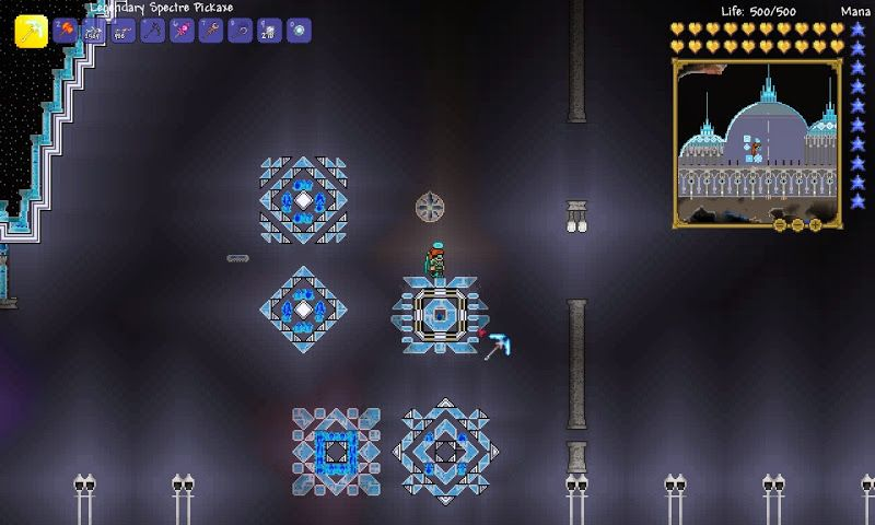 Terraria The Homestead World The Gas Hall Building The Little