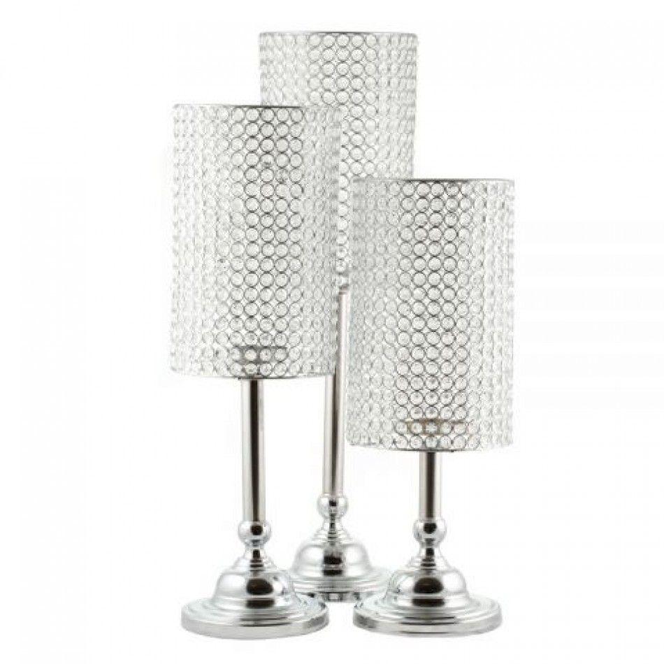 Wedding Candelabras - 28 Joi Crystal Beaded Lamp Centerpiece [403116 ...