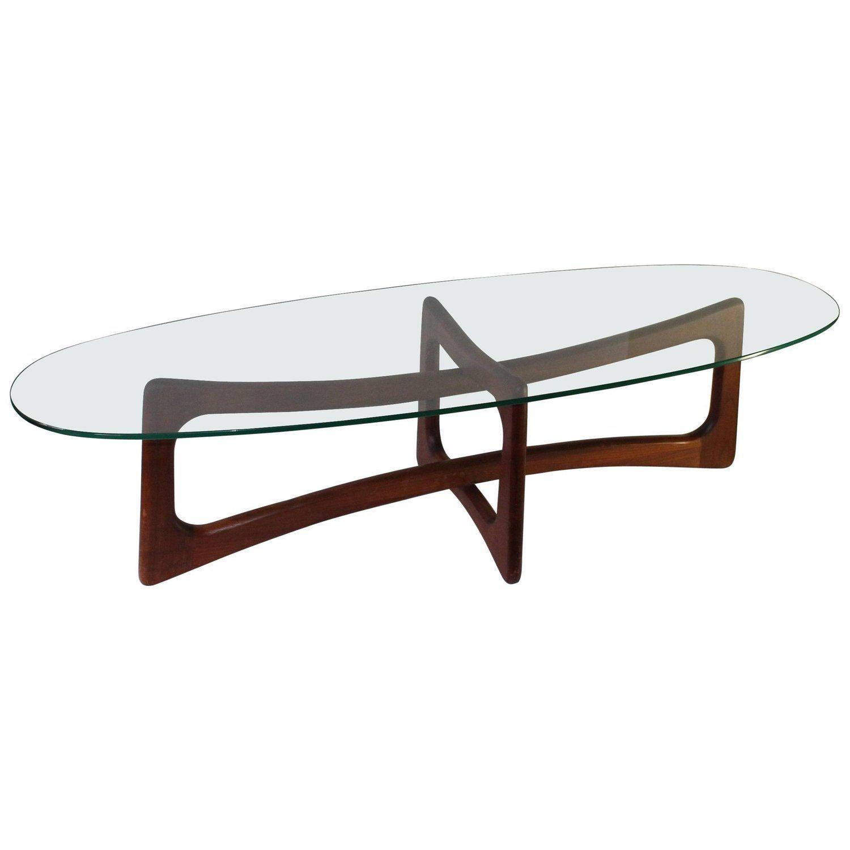 Glass Top Walnut Coffee Table By Adrian Pearsall Mid Century Coffee Table Walnut Coffee Table Leather Coffee Table [ 1500 x 1500 Pixel ]