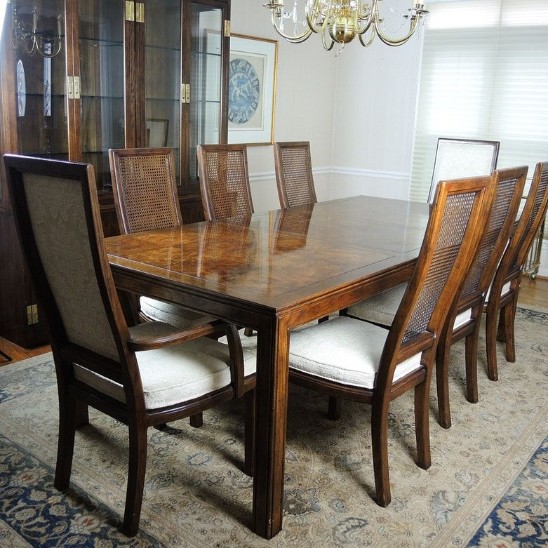 Henredon Scene One Dining Table With Eight Chairs | Dining ...