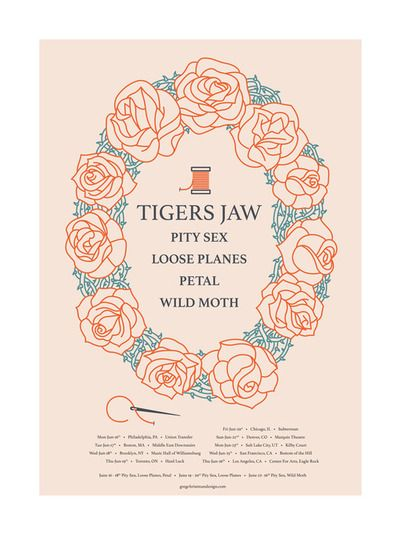 Tigers Jaw Announces Summer Tour Digital Tour Bus Summer Tour Band Posters Petal
