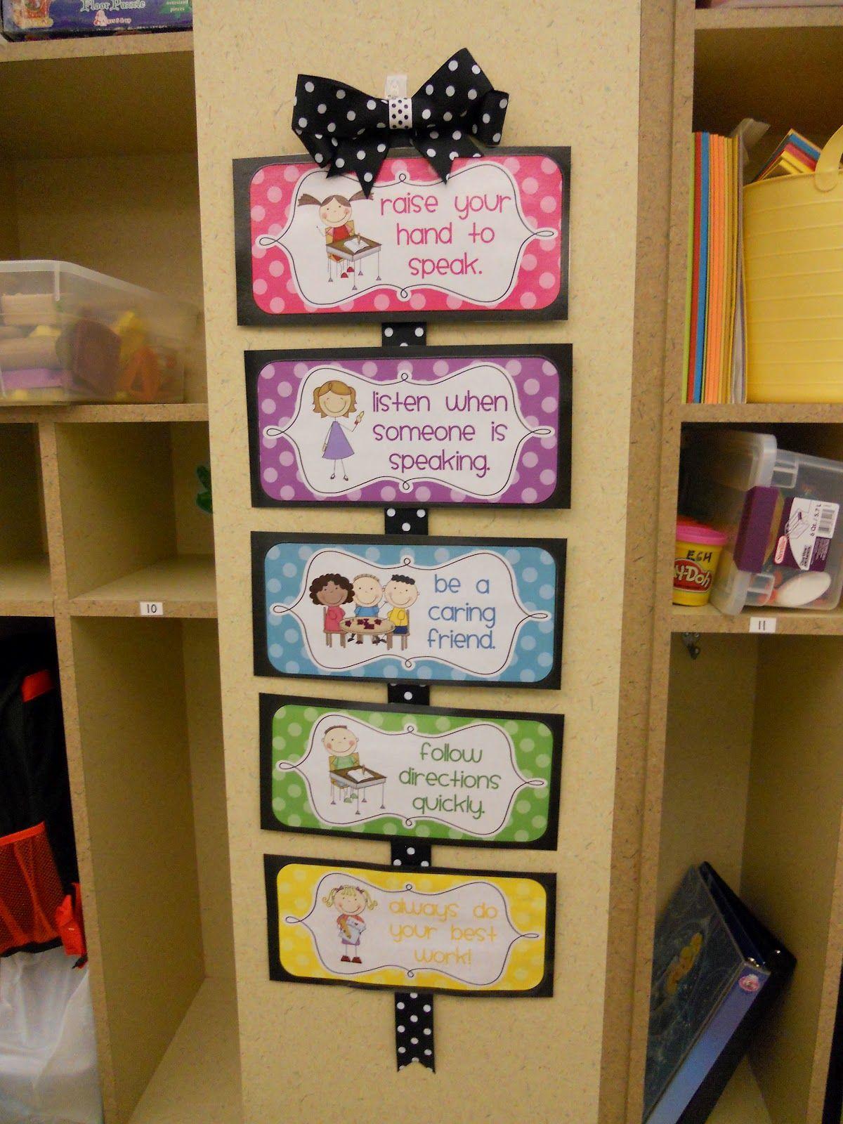 Preschool classroom rules crayons paper kindergarten and behavior chart also wall decoration for kids nursery part time rh pinterest
