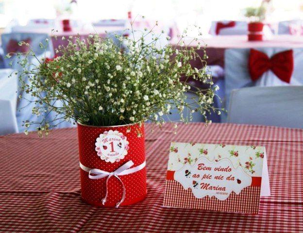 Enfeite De Lata ~ Life Festa Infantil Pic Nic da Marina Decoraç u00e3o festa Pinterest Festa infantil, Chapéus
