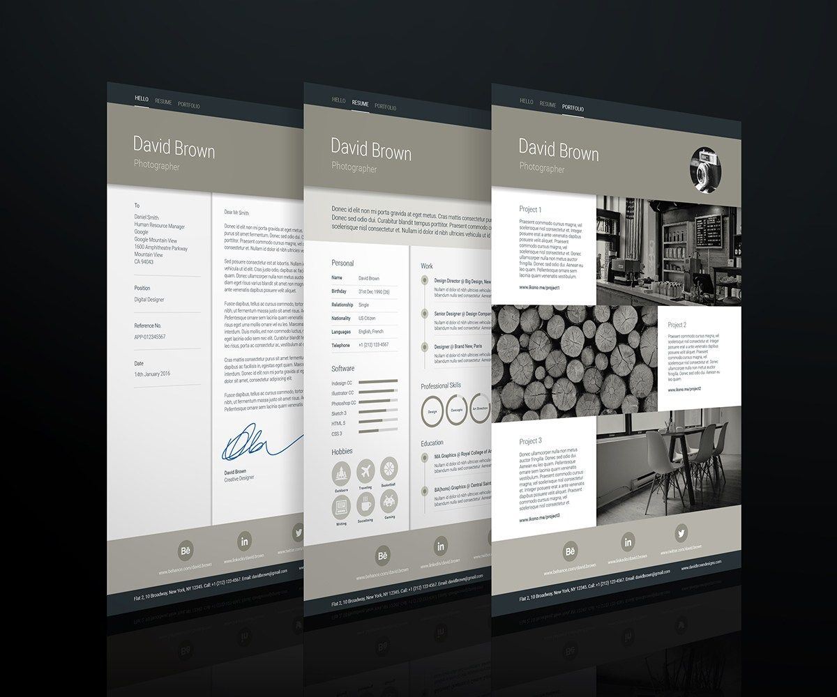 Creative resume templates Material Resume template by