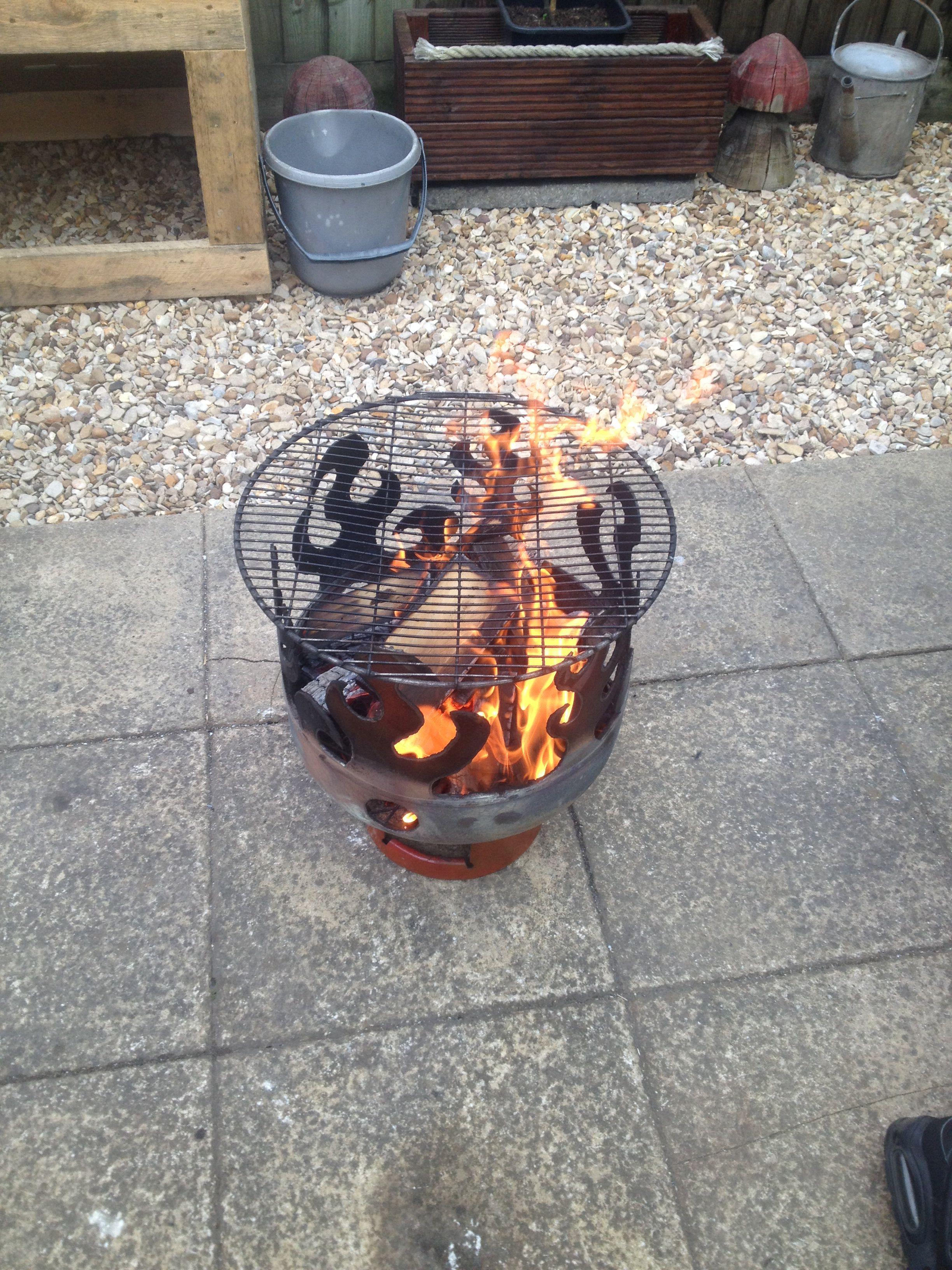 fire pit bbq made from old gas bottles log burner. Black Bedroom Furniture Sets. Home Design Ideas