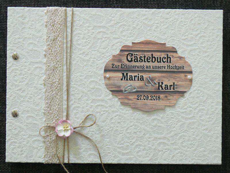 Hochzeitsgastebuch Gastebuch Hochzeit Holz Optik Vintage Fragen
