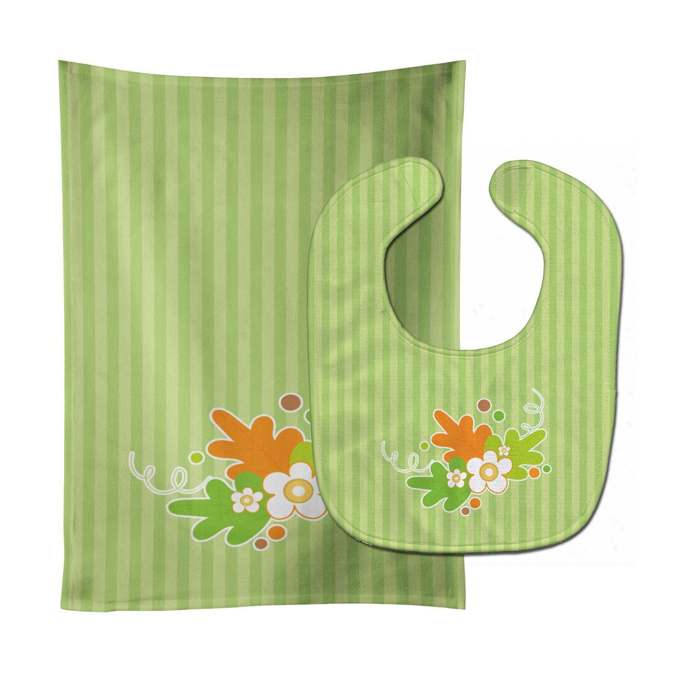 Fall Leaves Baby Bib & Burp Cloth BB6921STBU