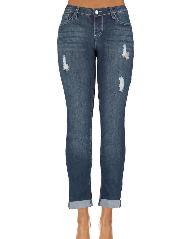 e6d0a9efd10 Miss EARL JEANS Size 12P Bling Me Rhinestone Stud Skinny Sexy Petite Size  12 P