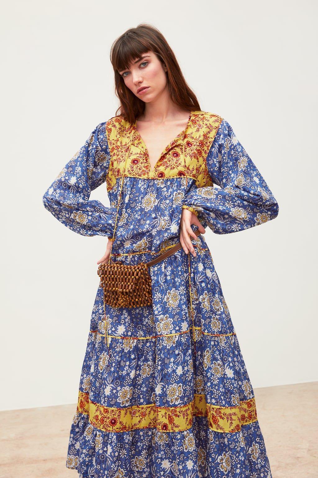9356f910 Combined printed dress in 2019 | Wear it | Dresses, Boho ...