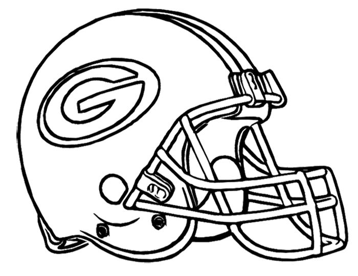 Football Helmet Green Bay Packers Coloring Page Kids Green Bay Coloring Pages
