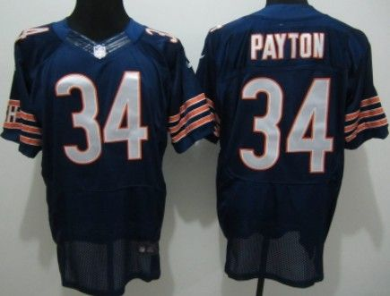 nike chicago bears 34 walter payton blue elite jersey