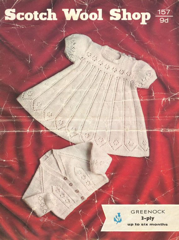 Scotch Wool Shop 157 baby dress and matinee coat set by Ellisadine ...