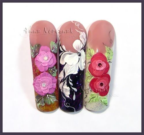 3d Gel Flowers By Arinita From Nail Art Gallery Nails With Flair