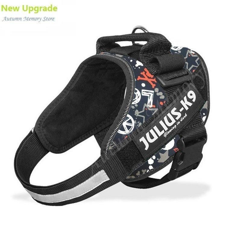 Reflective Julius K9 Dog Glow Vest Harness And Safeth Leash