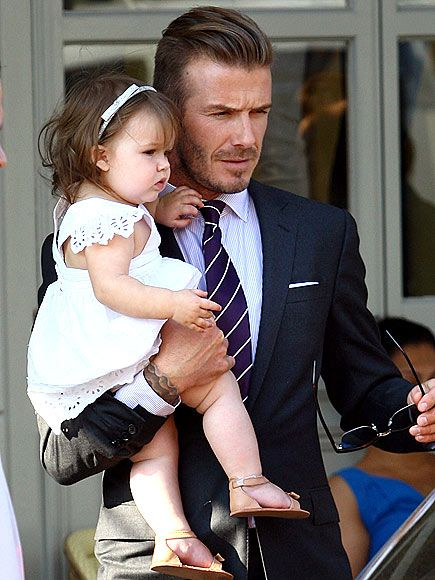 Totally obsessed with these too. Cuteness overload. DADDY'S GIRL & Beckham