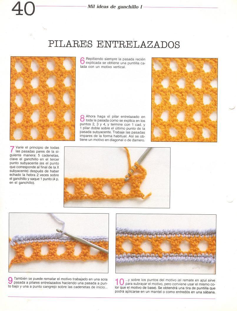patrones asgaya: PILARES ENTRALAZADOS A CROCHET | Tejidos | Crochet ...