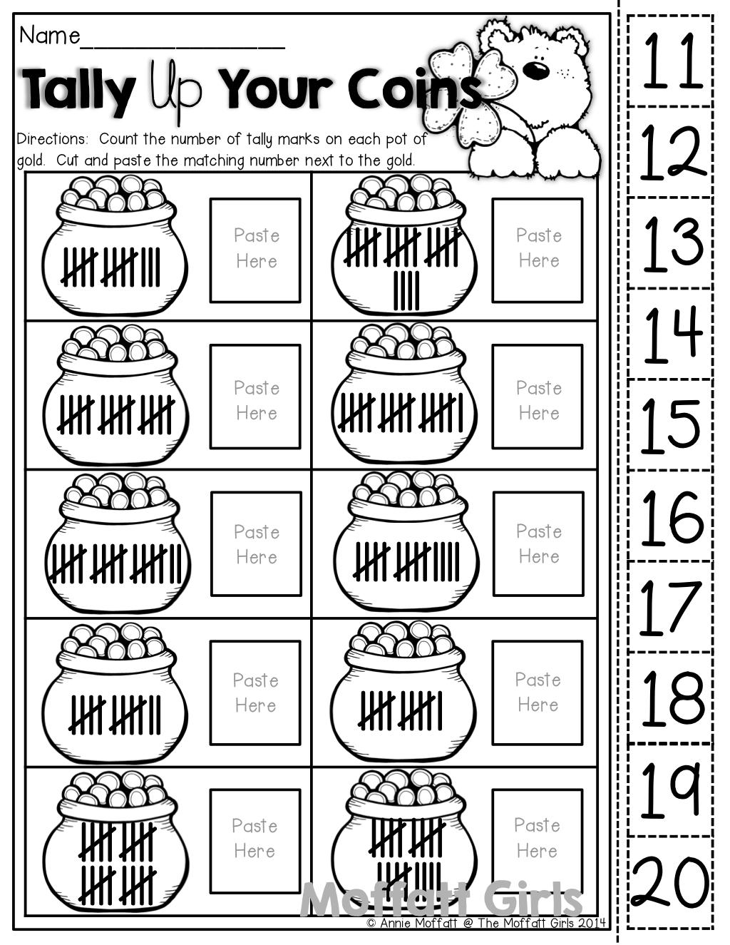 The Moffatt Girls: St. Patrick's Day NO PREP Packets!   Kindergarten  homework [ 1325 x 1024 Pixel ]