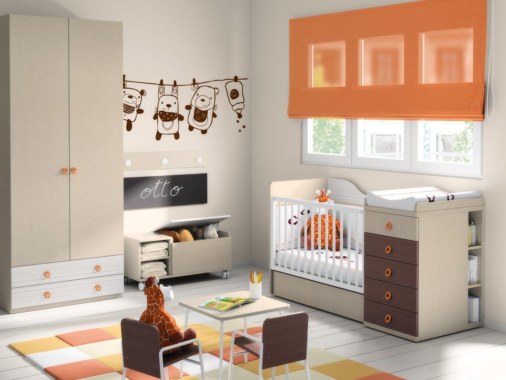 Cuna lite cajones armario ba l juguetero tablero for Muebles infantiles ros