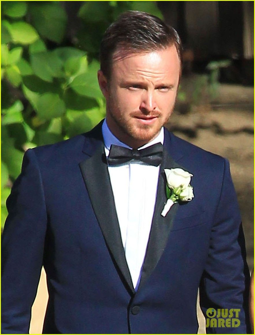 Aaron Paul\'s wedding tux. I\'m in love with the midnight blue & black ...