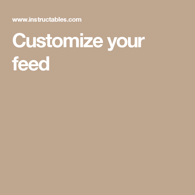 Customize your feed