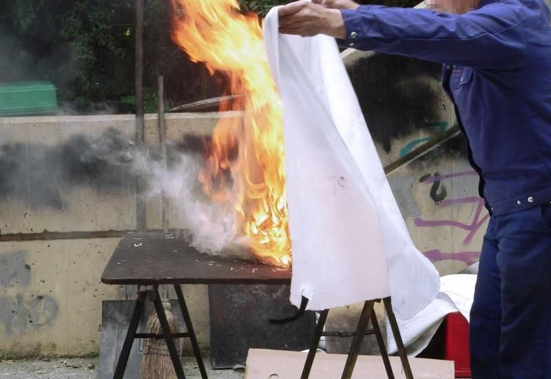 Image result for fire blanket in use