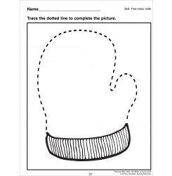Tracing a Mitten: Preschool Basic Skills (Fine Motor