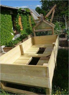 Realisation bac sur pieds 120 par 240 jardin potager carr potager et jardinage for Bac carre potager bois