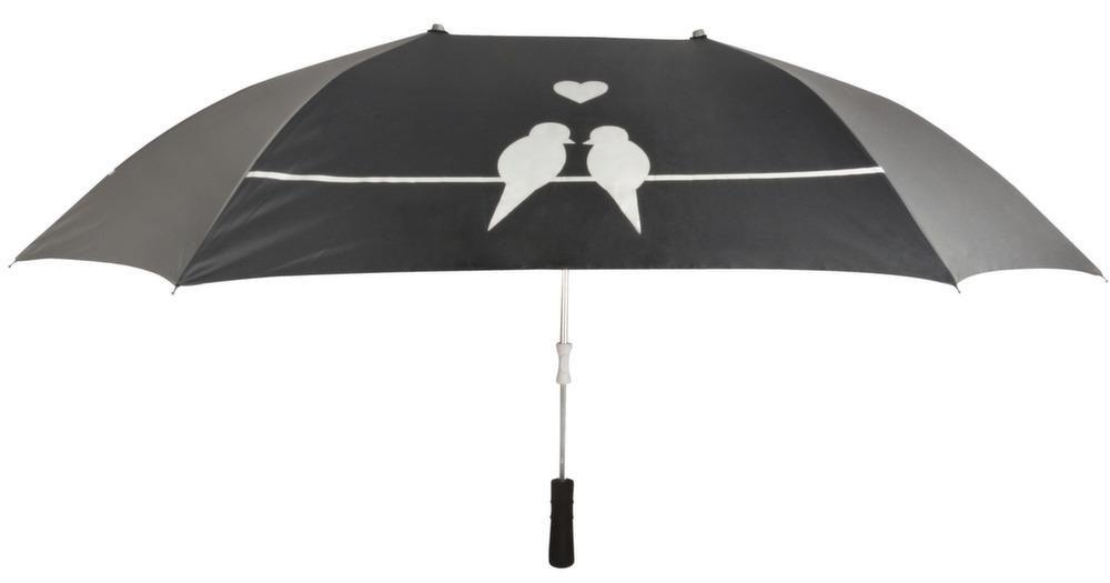 Parapluie double pour les amoureux 128.5x96.5x73.5cm