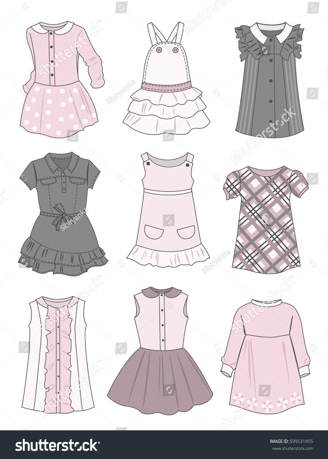 Drawing Clothes Girl Dresses Drawingbook Drawingpractice