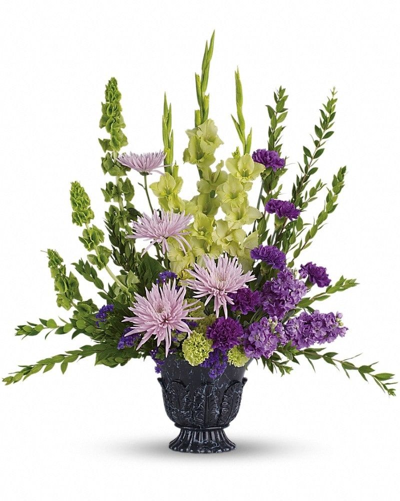 Cool cherished memories calgary downtown flowers pinterest an ideal choice for home or service this stunning bouquet featuring green gladioli and lavender stock will express your sympathy lovingly and tastefully izmirmasajfo Choice Image