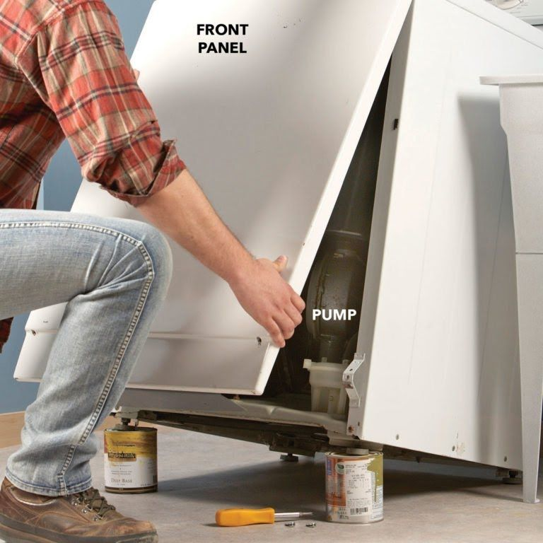 How to drain a washing machine that wont drain washer
