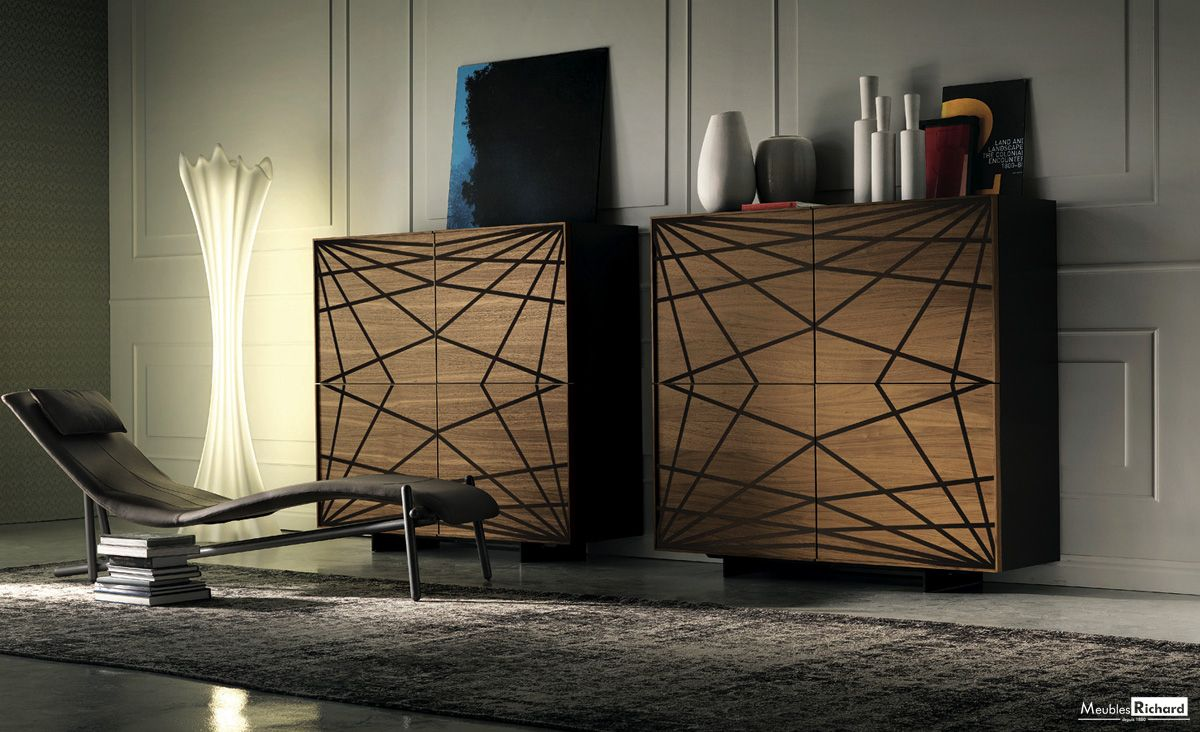 bahut #tendance #bois #verre #design #meubles richard ... - Meuble Bahut Design Italien