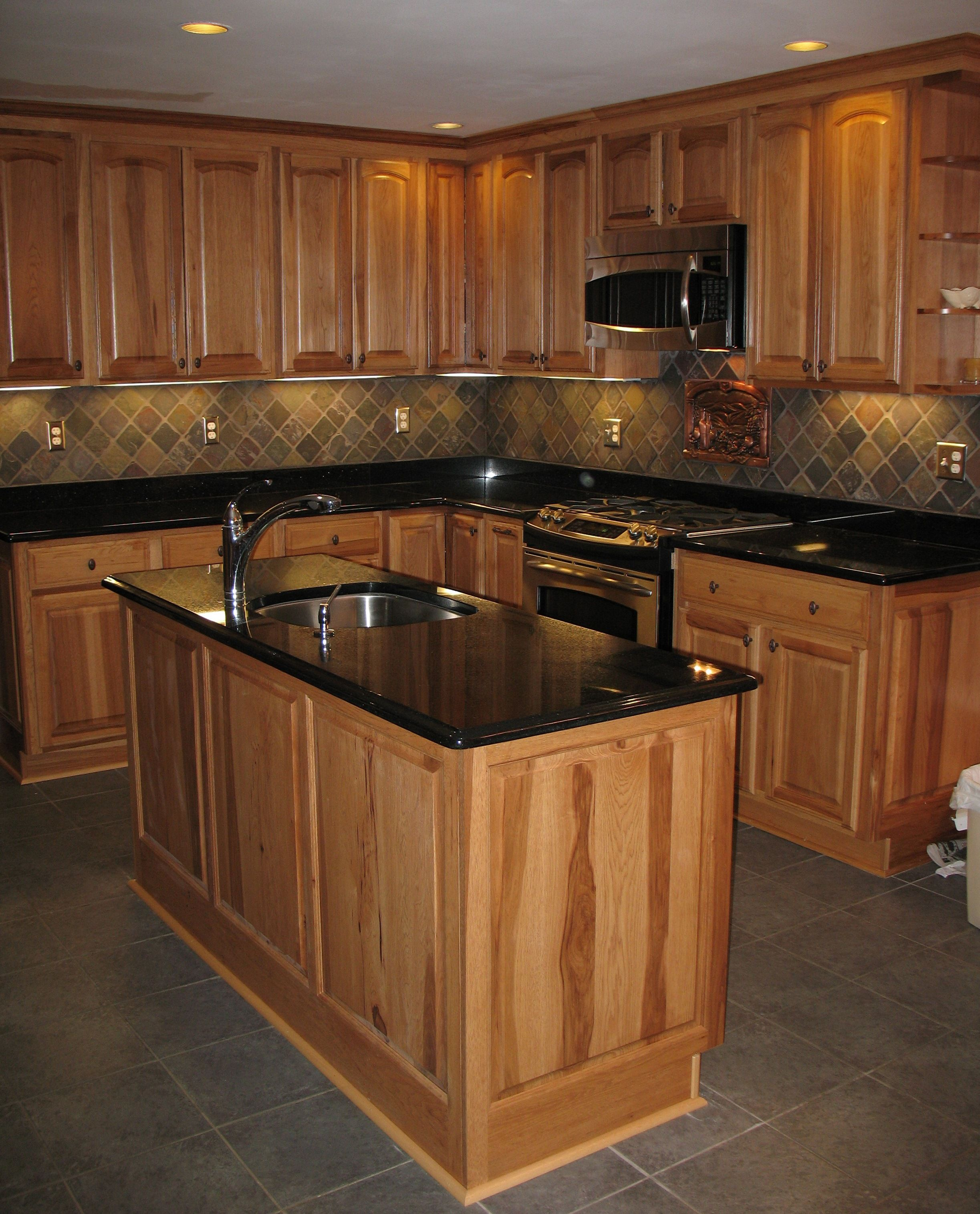 Black Slate Backsplash : My husband and i installed this slate backsplash