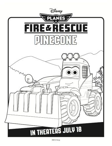 Disney Planes: Fire & Rescue Printable Coloring Sheet - Pinecone ...