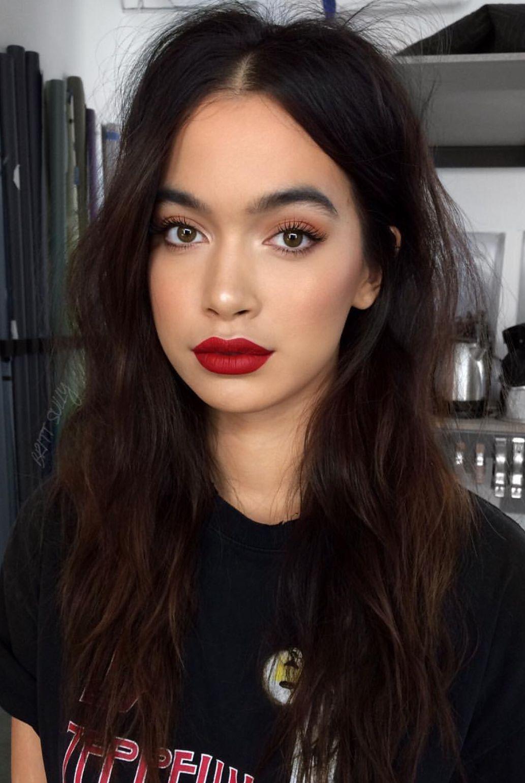 Pinterest Deborahpraha Red Lipstick Red Lips Makeup