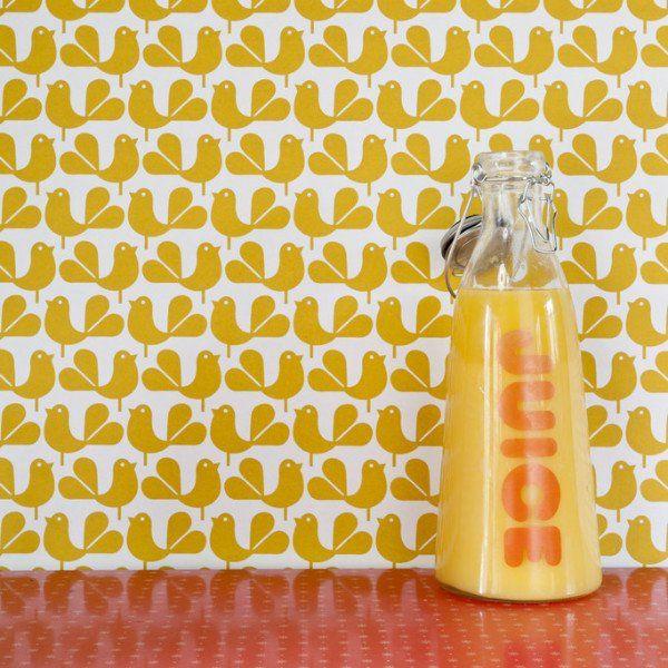 Woodstock Wallpaper Yellow