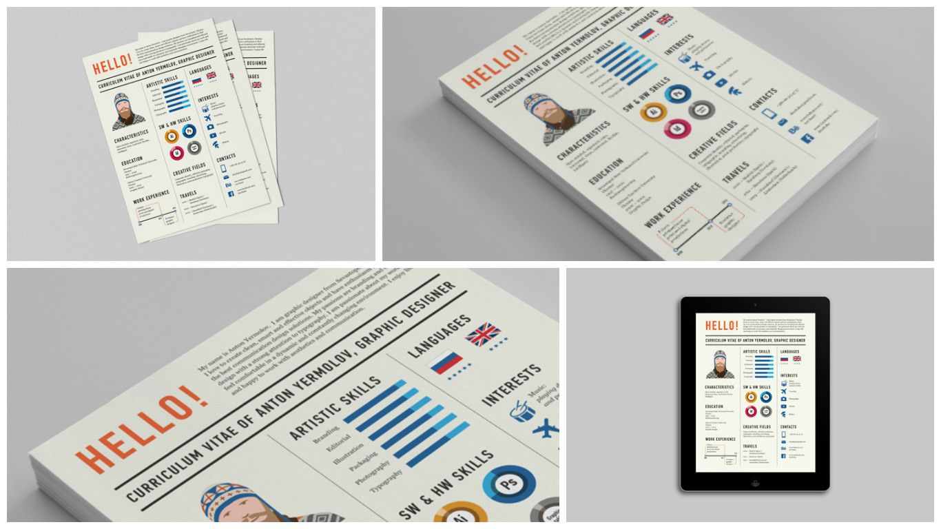 70 Well-Designed Resume Examples For Your Inspiration | Currículum ...