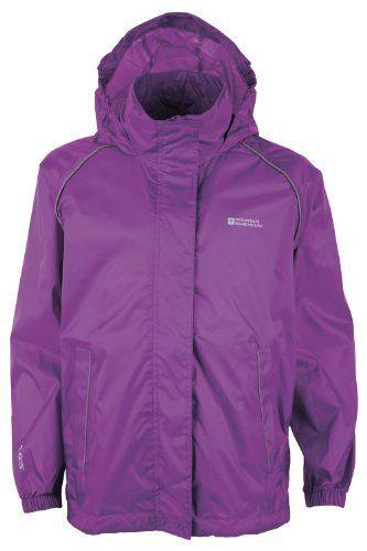 Girls /& Boys Waterproof Mountain Warehouse Pakka Kids Rain Jacket