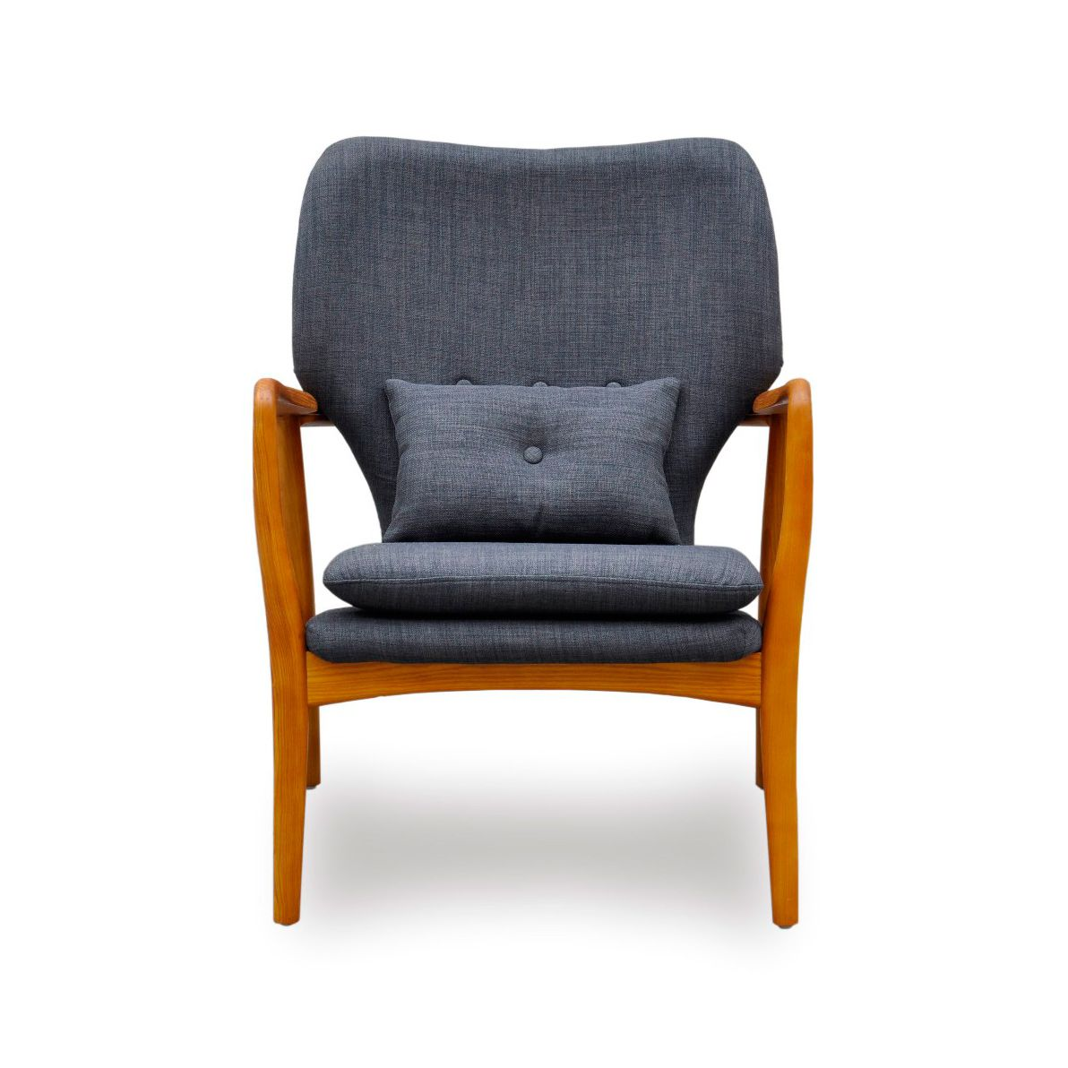 Sophistication and elegance sure looks comfy, doesn't it? Perfect for a reading nook or as a corner lounge chair, the Franklin Arm Chair in Denim Blue gives any space a modern character. Constructed ou...  Find the Franklin Arm Chair - Denim Blue, as seen in the A Romantic Modern Escape Collection at http://dotandbo.com/collections/a-romantic-modern-escape?utm_source=pinterest&utm_medium=organic&db_sku=IDS0010