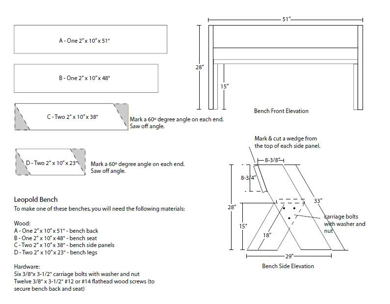 Aldo Leopold Bench Plans 28 Images Diy Aldo Leopold
