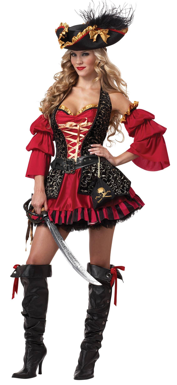 Spanish Pirate Women Costume for Halloween and Parties  6e405fcbda15