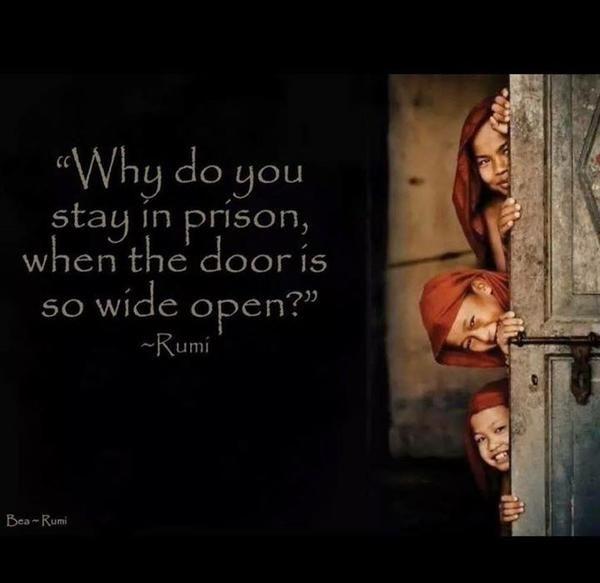 Go on: walk through that door!