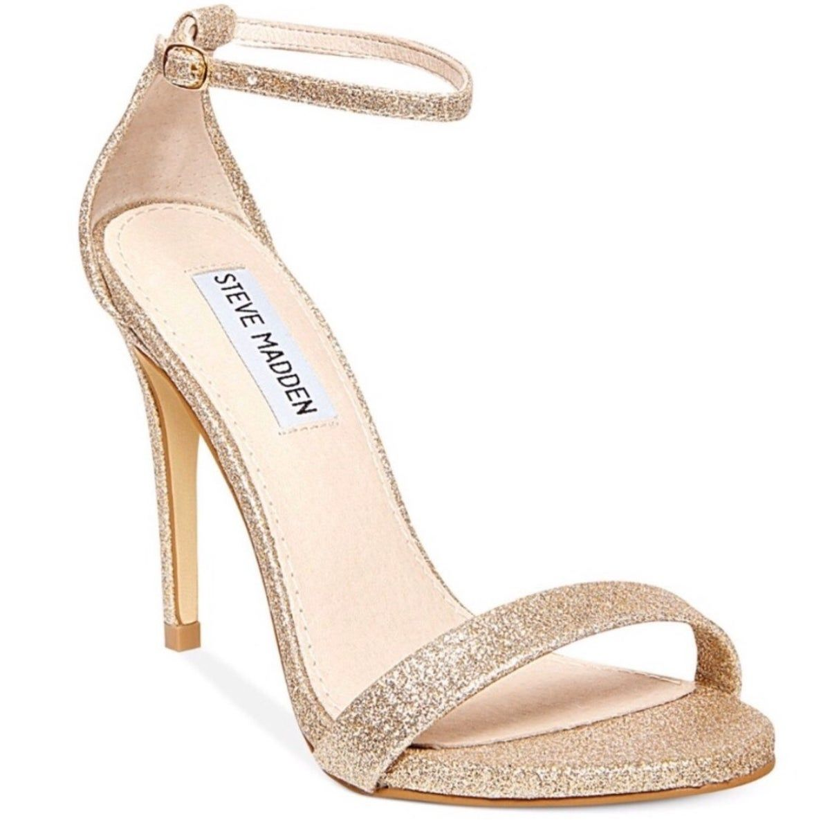 Steve Madden Stecy Sandal In Gold Glitte Bridesmaids Heels Bridesmaid Shoes Bridal Shoes
