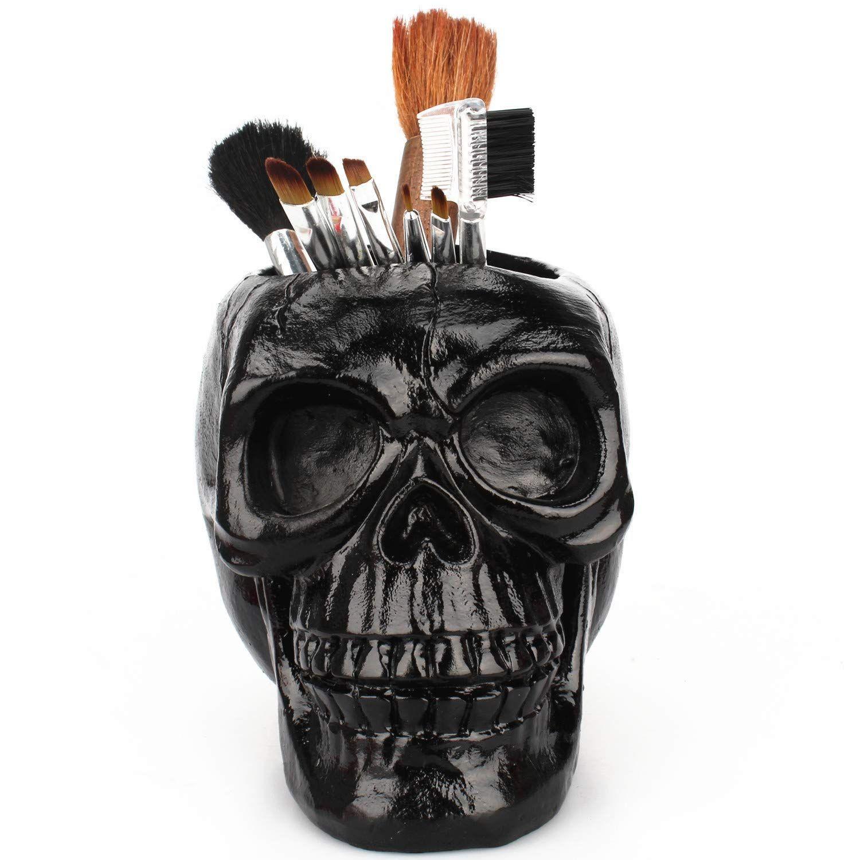 Skull Pen Pencil Holder Office Home Desktop Organizer