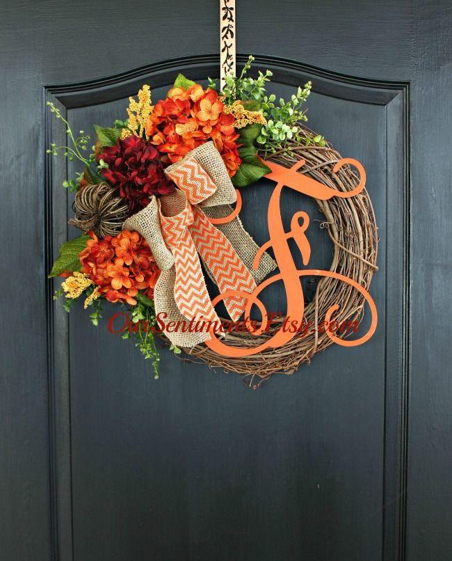 Etsy Fall Wreaths Fall Ideas Pinterest Wreaths Fall Wreaths