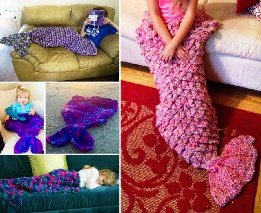 Crochet Mermaid Blanket Tutorial Youtube Video DIY | Manta, Cola de ...