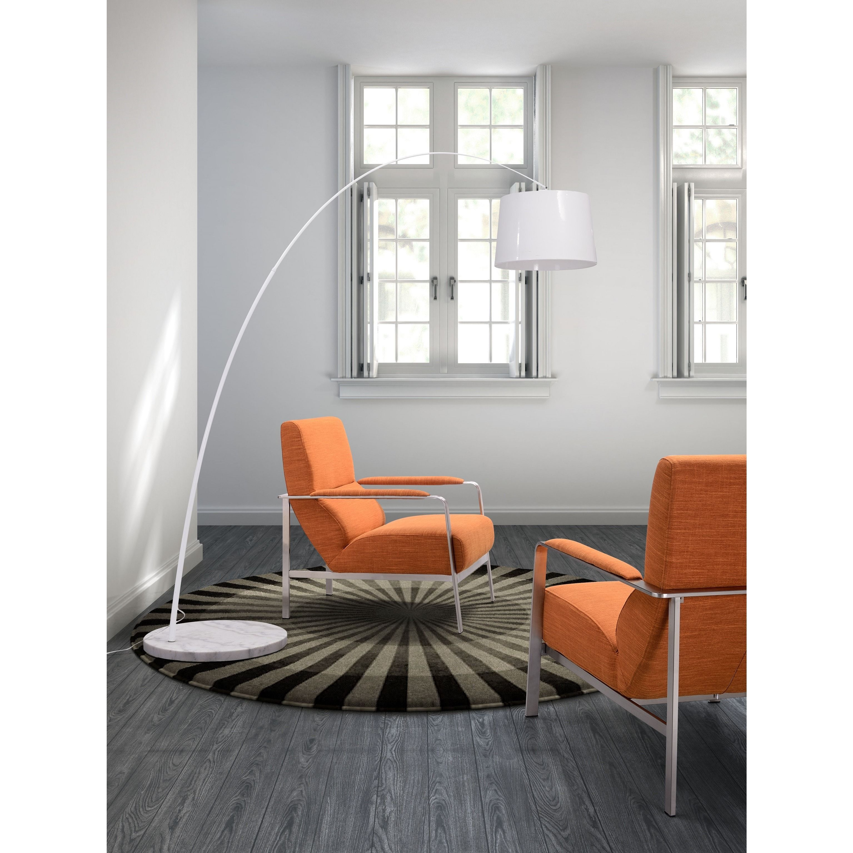 Zuo Jonkoping Modern Sunkist Orange Arm Chair (Jonkoping Arm Chair ...